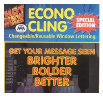 Window Letter Clings For Retail Window Displays