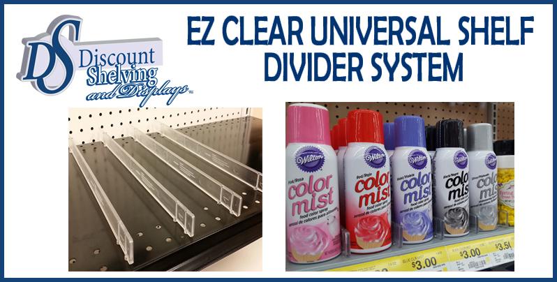 EZ CLEAR UNIVERSAL GONDOLA SHELF DIVIDER SYSTEM