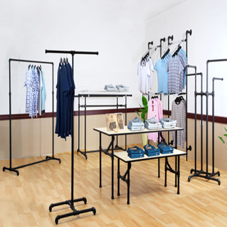 Black Pipe Clothing Rack Systems